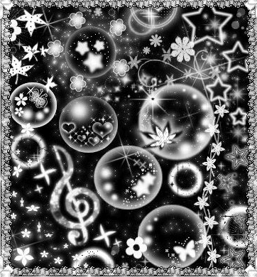 像素化梦幻装饰元素笔刷