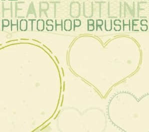 12种浪漫的爱心效果PS笔刷素材