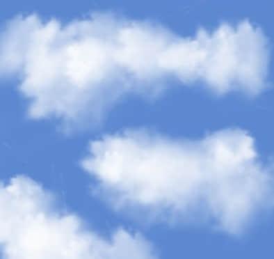 漂亮的云雾状云彩、云朵PS笔刷