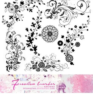 装饰设计花纹和花边PS笔刷素材