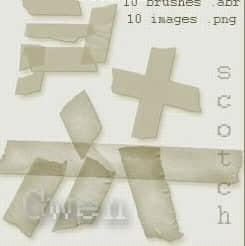 10种医用胶布ps笔刷