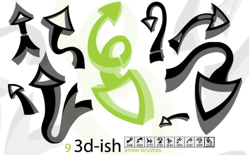 3D箭头符号PS笔刷