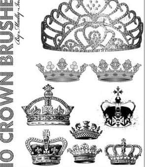 钻石皇冠、女皇皇冠PS笔刷素材