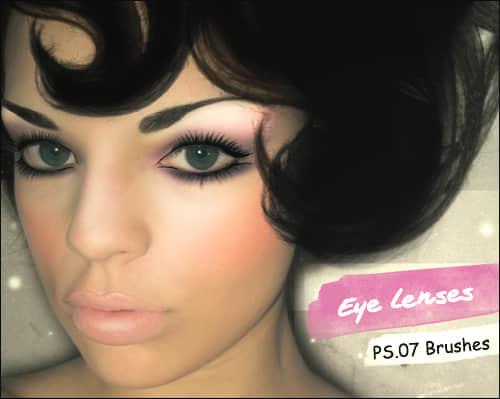 非主流眼睛、彩瞳、美瞳PS笔刷素材 美瞳笔刷 化妆笔刷  characters brushes