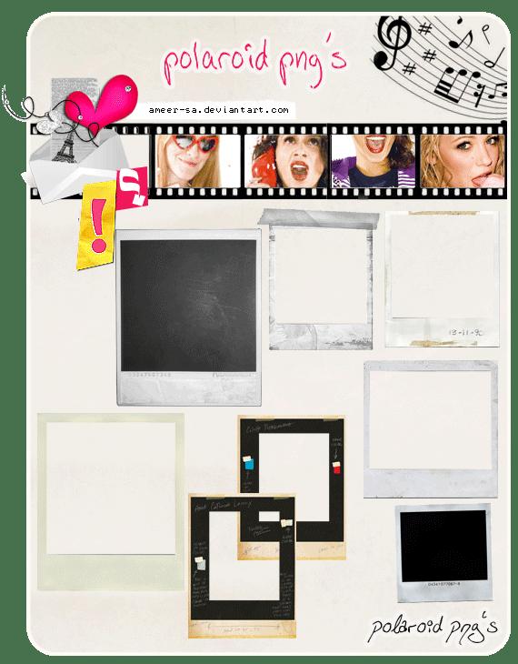 9种拍立得相片框背景素材-【美图秀秀美化素材】