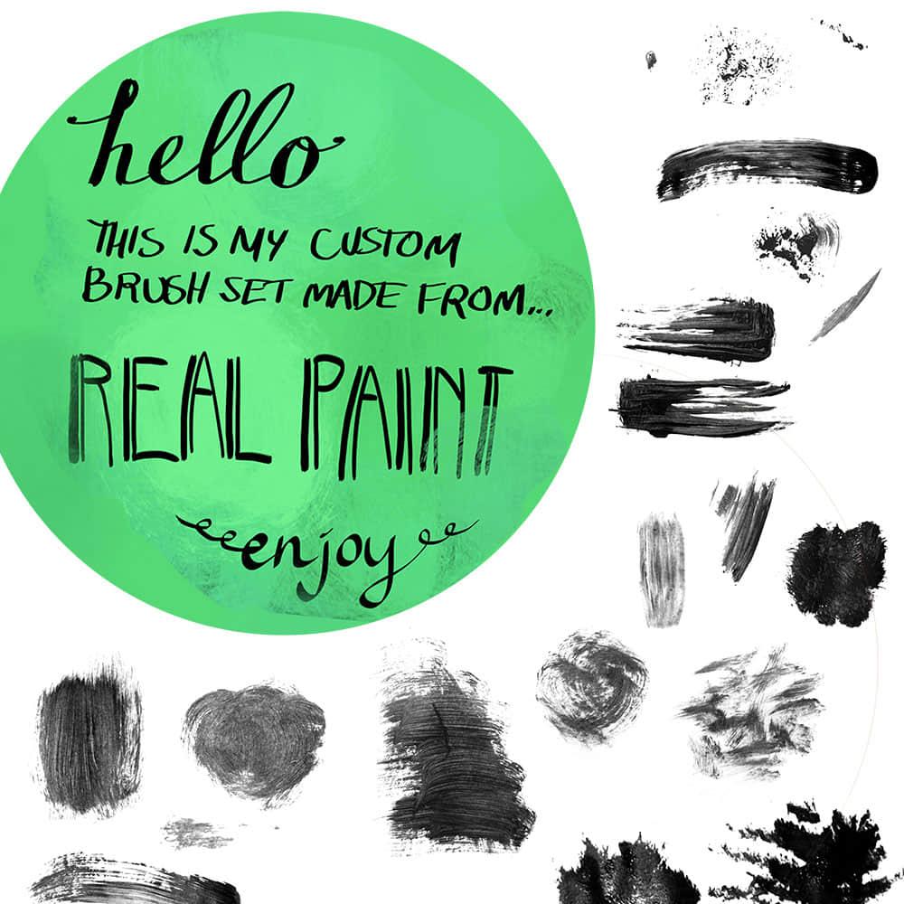 多笔触式刷子纹理效果PS笔刷 颜料画笔笔刷 油漆画笔笔刷 油漆刷子笔刷 刷子笔刷 PS画笔笔刷  photoshop brush