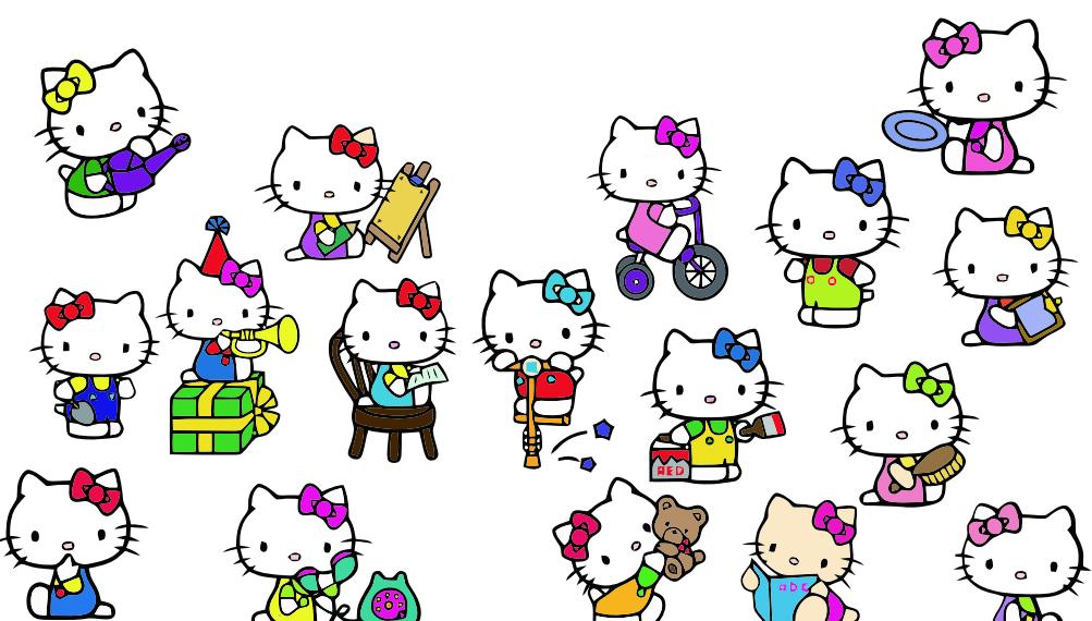可爱卡通Hello Kitty图片素材 美图秀秀素材 美图秀秀素材 可牛影像素材 光影魔术手素材 Hello Kitty图片素材  hanxi brushes