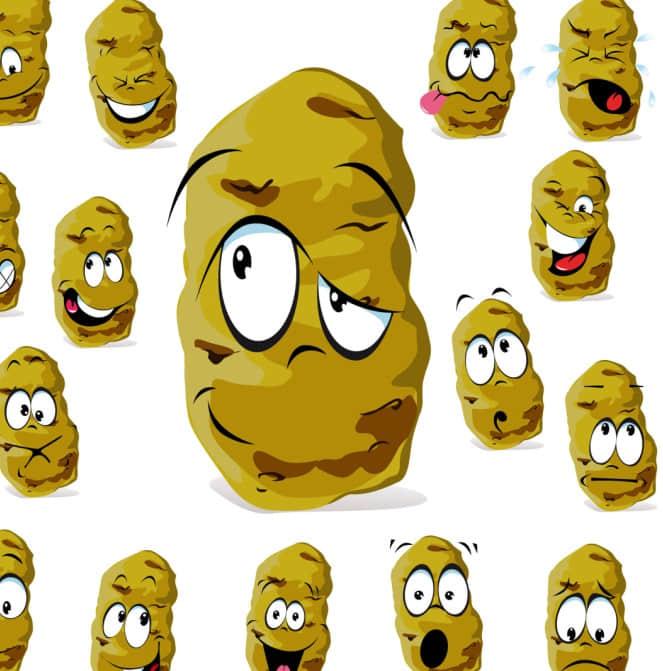 搞笑可爱的土豆块图片素材-【美图秀秀素材】