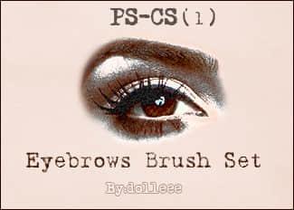七种不同的眉毛、画眉、描眉效果PS笔刷 眉毛笔刷 画眉笔刷 化妆笔刷  characters brushes