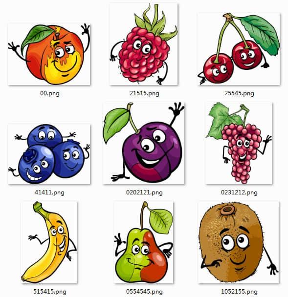可爱卡通水果图片素材 美图秀秀素材 #.2 美图秀秀素材 水果素材图片 水果照片装饰素材  hanxi brushes