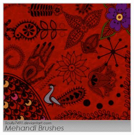 古典传统民族的图案花纹photoshop笔刷素材