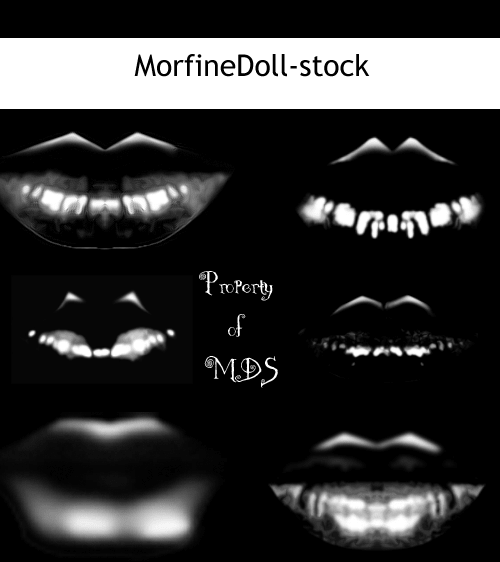 真实的口红印记、唇印photoshop笔刷素材 唇印笔刷 口红印笔刷 化妆笔刷  characters brushes