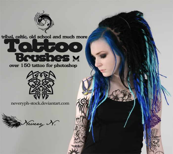 高品质纹身图案效果photoshop笔刷素材