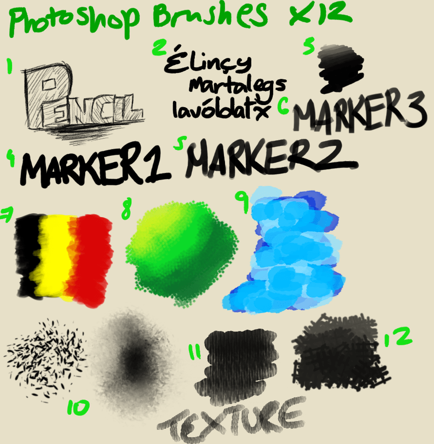 12种多功能用途photoshop笔刷素材