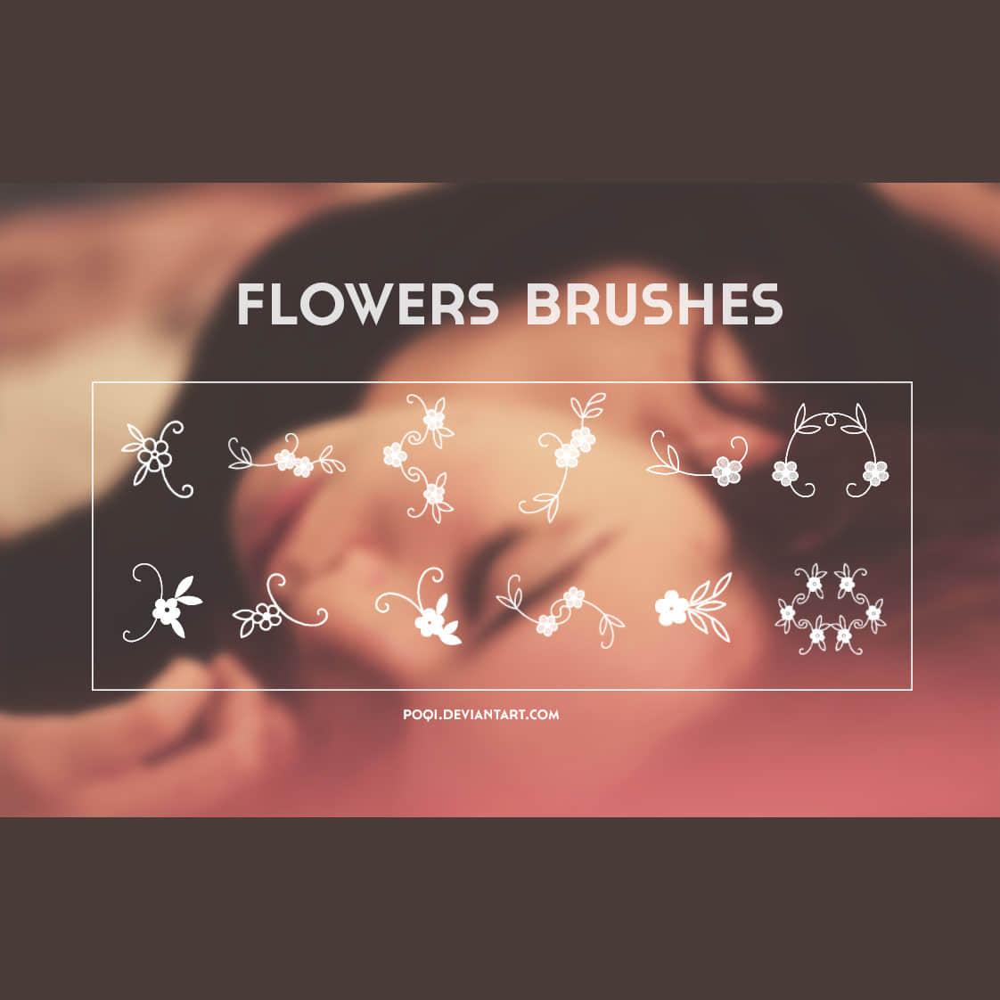 小清新植物花纹图案photoshop笔刷