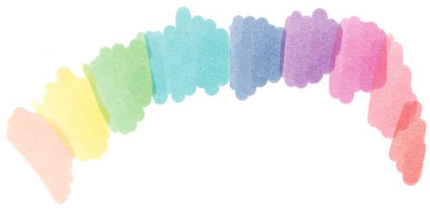 简单的艺术水彩画笔photoshop笔刷素材