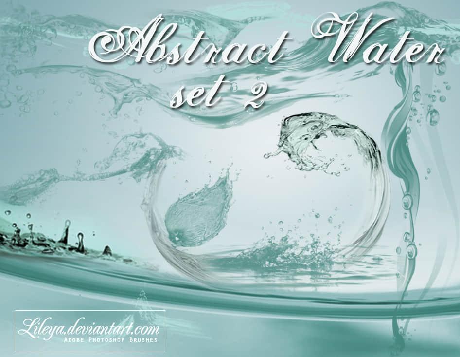 水花、浪花、水流效果Photoshop笔刷下载