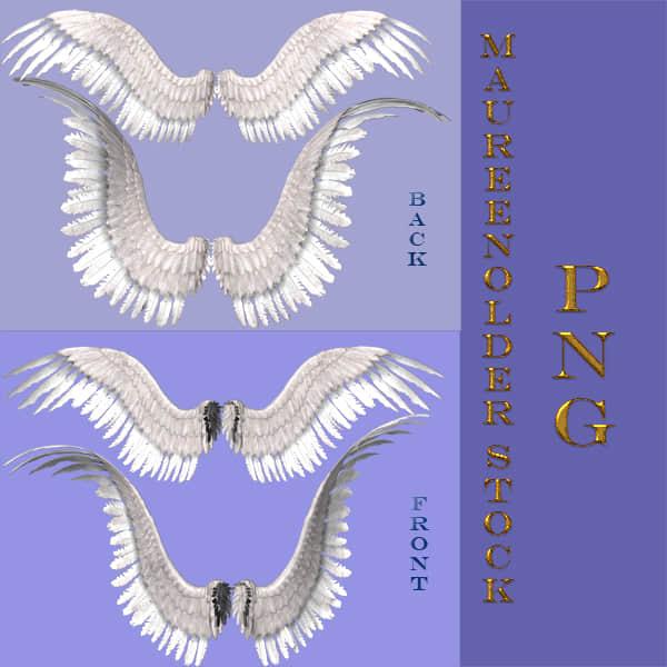 4种天使羽翼翅膀照片美化素材-【美图秀秀素材】
