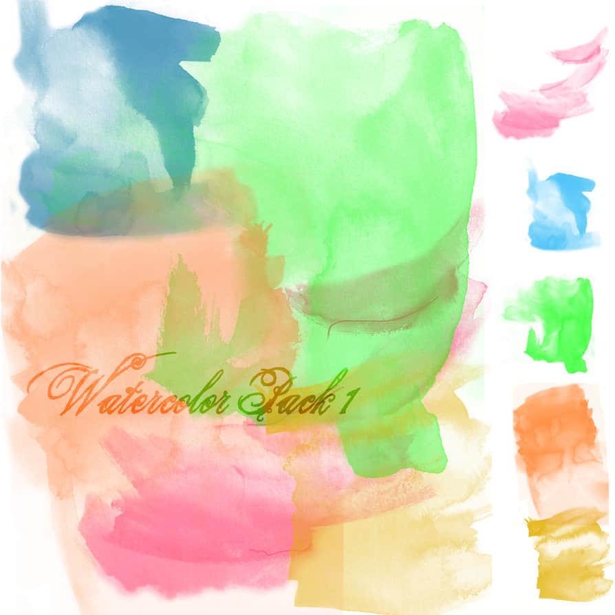 大粉饰刷子油漆、水粉涂鸦photoshop笔刷素材 粉刷笔刷 水粉笔刷  photoshop brush