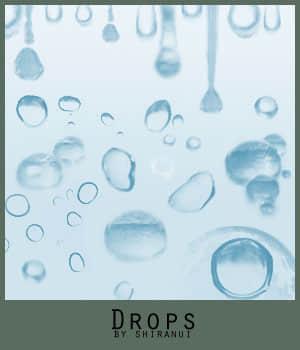 晶莹小水滴、小水珠photoshop笔刷素材