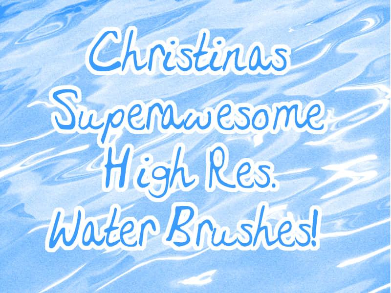 高品质平静的水面、水波纹理Photoshop笔刷素材