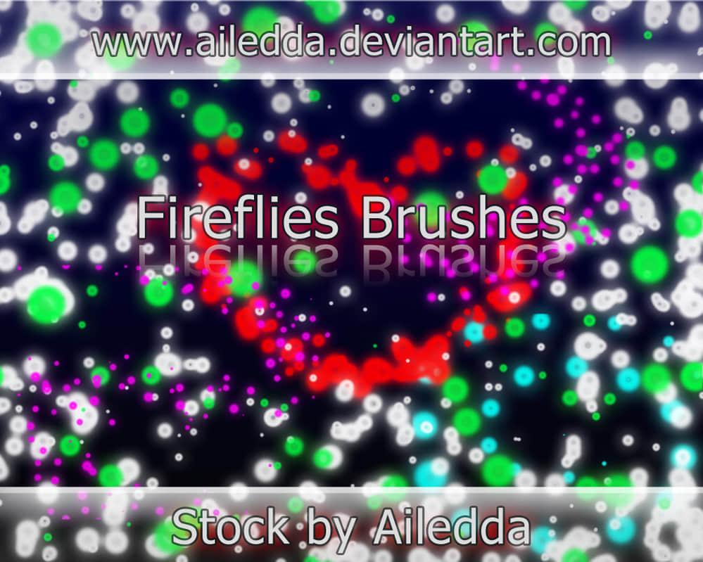 荧光斑点光线特效Photoshop背景笔刷素材