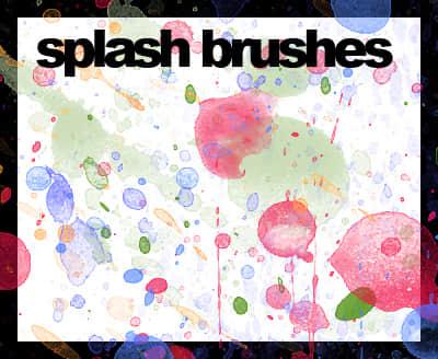 水粉油漆滴溅、飞溅效果photoshop笔刷素材