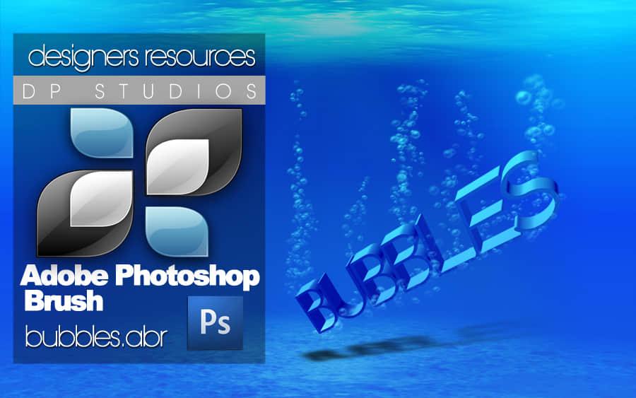 水中的气泡效果Photoshop笔刷素材下载