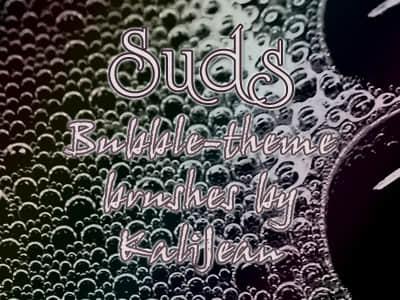 肥皂水泡沫纹理效果Photoshop笔刷素材 肥皂泡泡笔刷 泡泡笔刷 泡沫笔刷  water brushes