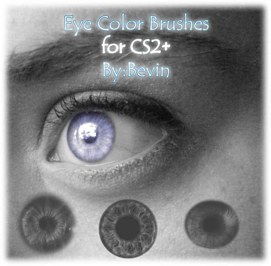 美瞳、欧美瞳孔、眼瞳photoshop笔刷素材下载