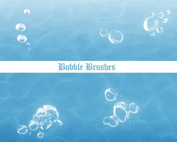 水中的气泡、水泡Photoshop笔刷下载