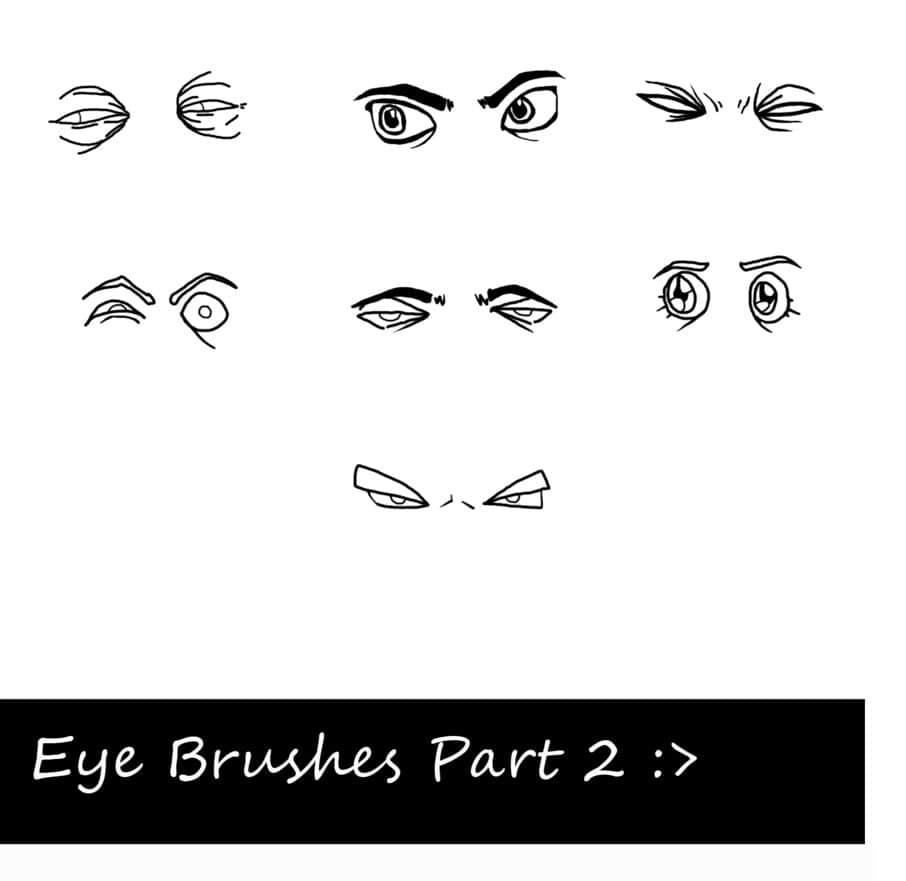 卡通眼睛效果PS笔刷