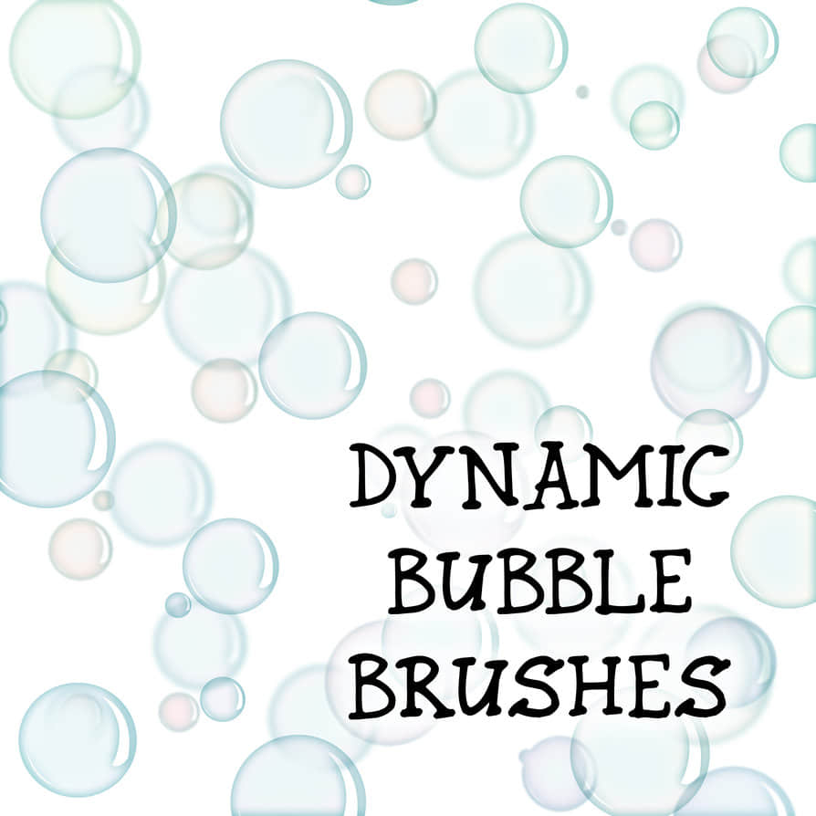 简单的泡泡、气泡Photoshop笔刷素材下载 肥皂泡泡笔刷 泡泡笔刷 气泡笔刷 梦幻泡泡笔刷 梦幻场景笔刷  water brushes