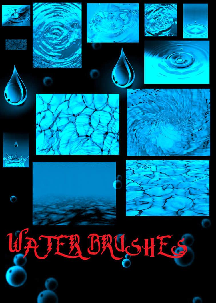 16个水相关效果PS笔刷下载