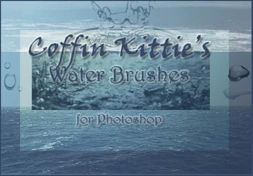 又一个水效果、水滴、水面Photoshop笔刷素材 水面笔刷 水珠笔刷 水滴笔刷  water brushes