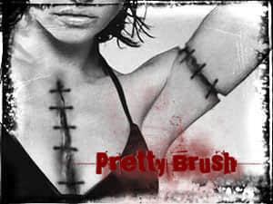 伤口、创伤、针线缝过的伤口效果photoshop笔刷素材