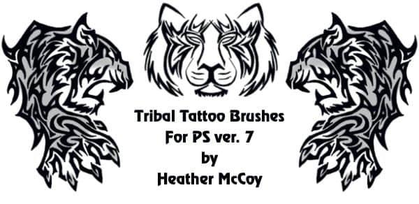 版刻式动物图案photoshop笔刷素材 骨龙版刻图案笔刷 老虎纹饰笔刷 纹饰笔刷 版刻图案笔刷  adornment brushes
