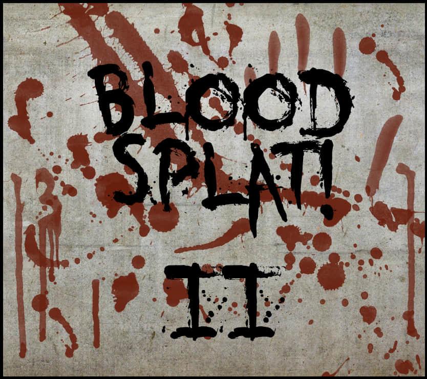 墨迹、血迹效果滴溅喷溅Photoshop笔刷素材