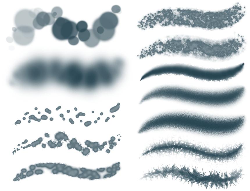 特殊纹理材质photoshop笔刷素材
