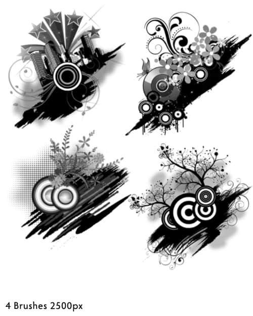 城市时尚潮流元素图案非主流背景装饰photoshop笔刷