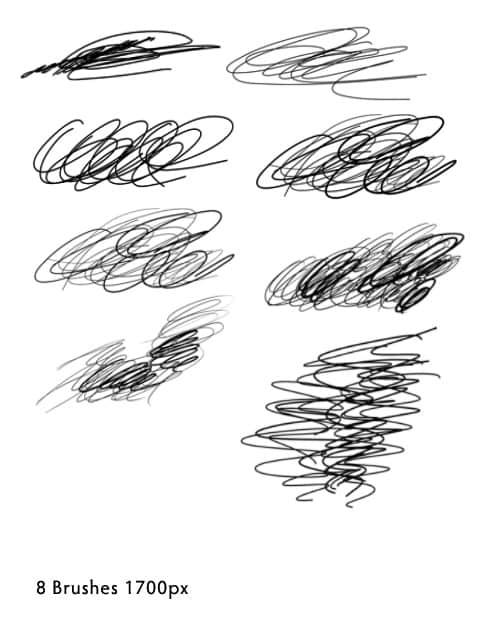 水笔、中性笔、铅笔等笔触photoshop笔刷下载