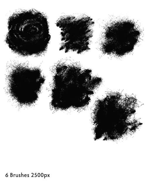 特色油漆喷溅photoshop笔刷素材
