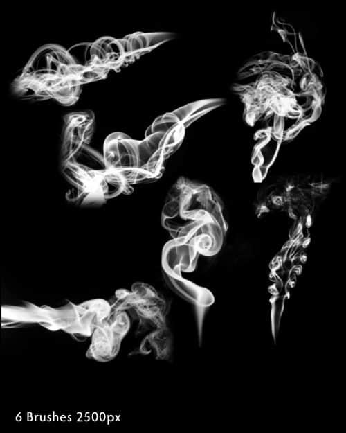 高清烟雾、云烟效果photoshop笔刷