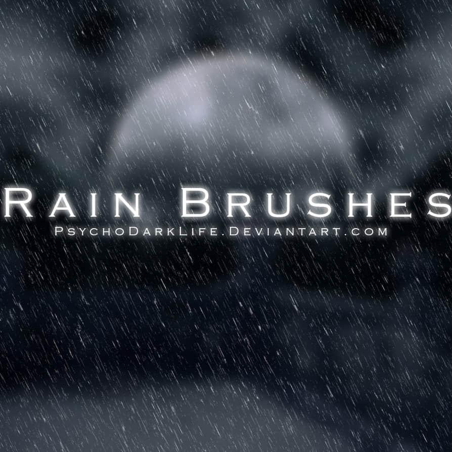 高品质下雨背景photoshop笔刷素材