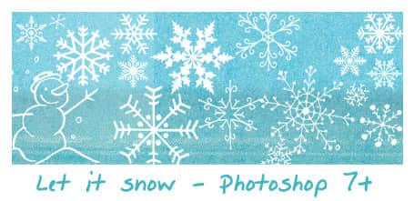 漂亮的雪花花纹photoshop笔刷素材