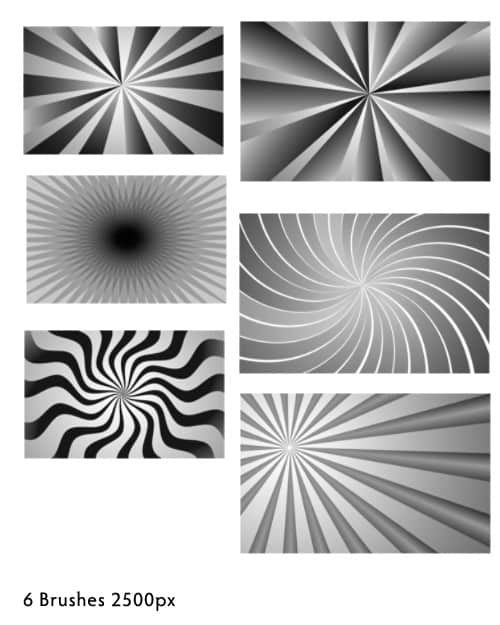 6个展示魅力四射效果photoshop笔刷素材