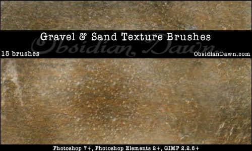 砾石、岩石和沙子photoshop笔刷