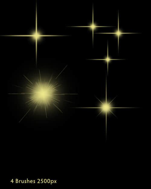 闪烁、闪光、光芒效果photoshop笔刷 #.2