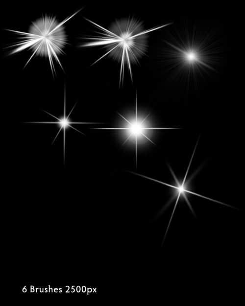 闪烁、闪光、光芒效果photoshop笔刷