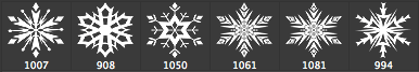 漂亮的矢量雪花、冰花、窗花图案photoshop笔刷下载